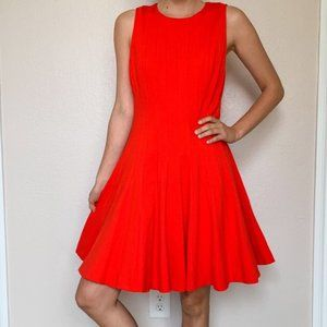 Kate Spade Red Fit Flare Sleeveless Mini Dress 8